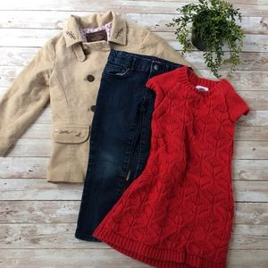 Lot of Girls Clothes Size 4T Coat Dress Jeans